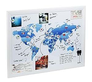 Magnetic Maps, per disegnare, segnare e pianificare i tuoi viaggi (Bandiera mondo)