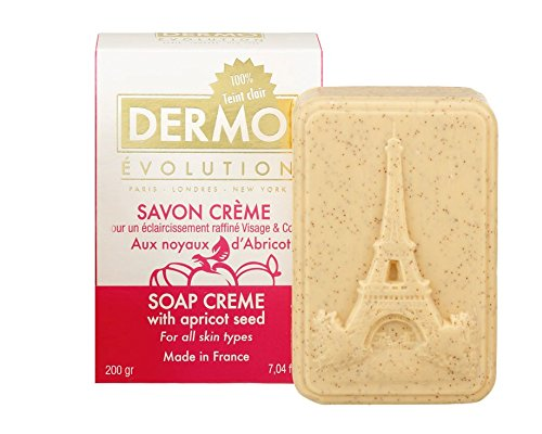 Skin Lightening Whitening Brightening Bleaching Fairness Exfoliating Apricot Seed & Argan Oil Soap Creme 200g - By Dermo-Evo - ELYSEESTAR - FOR ALL SKIN TYPES by DERMO EVOLUTION