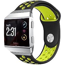 BarRan reg; Fitbit Ionic correa, silicona Gel de sílice reloj de pulsera deporte banda de repuesto y ajustable pulsera para Fitbit Ionic