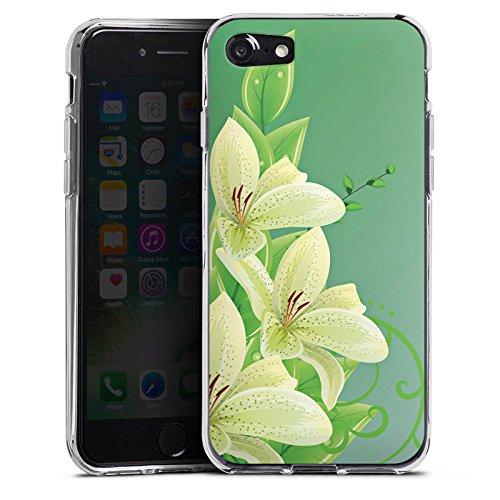 Apple iPhone X Silikon Hülle Case Schutzhülle Lilie Blume Lilly Silikon Case transparent