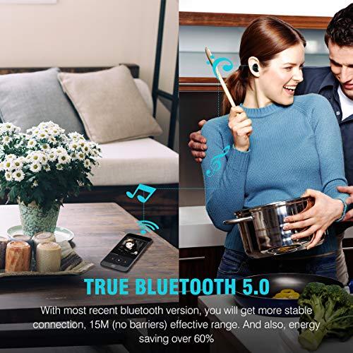 Muzili Ecouteur Bluetooth 5.0 Ecouteurs sans Fil Ultra-léger Anti-Bruit Oreillette Bluetooth IP65 Écouteurs Étanche Stéréo avec Micro pour iPhone Samsung Huawei iPad Tablette