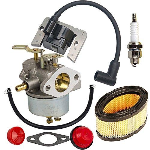 OxoxO Carburetor Carb Kit Air Fuel Filter& Spark plug&Ignition Coil fits Tecumseh HM70 HM80 HMSK80 HMSK90 HM100 HMSK100 632370A 632110 632111 Engines