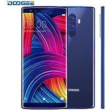 """DOOGEE MIX 2, DOOGEE Móviles y Smartphones Libres, 5,99""""FHD Reconocimiento Facial - Octa Core 2.5 GHz 6G+64G - 16.0MP+13.0MP Cámara Trasera - Doble 8.0 MP Cámara Frontal-4060 mAh- Huella Dactilar - Azul"""