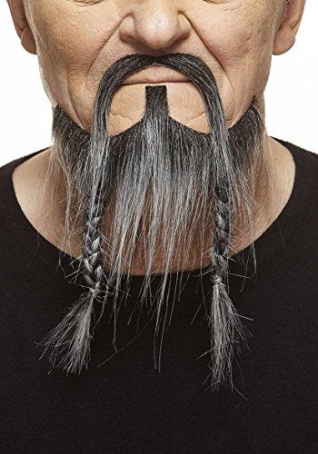Mustaches Geflochtener schwarzweißer Piraten fälschen, selbstklebend Bart mit Schnurrbart