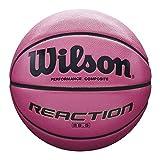 Wilson All Surface-Basketball, Wettkampf, Asphalt, Sportparkett, Größe 6, REACTION, Pink, WTB1218XD06