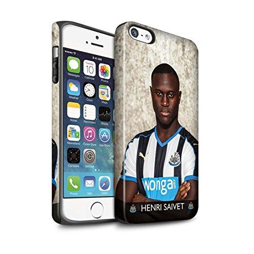 Offiziell Newcastle United FC Hülle / Matte Harten Stoßfest Case für Apple iPhone SE / Pack 25pcs Muster / NUFC Fussballspieler 15/16 Kollektion Saivet