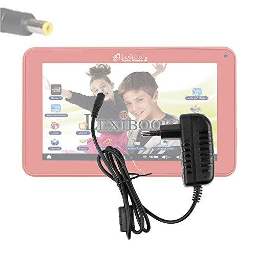 DURAGADGET Chargeur Secteur de première qualitépour tablette tactile enfant Lexibook Tablet Master 2 MFC157FR - embout rond