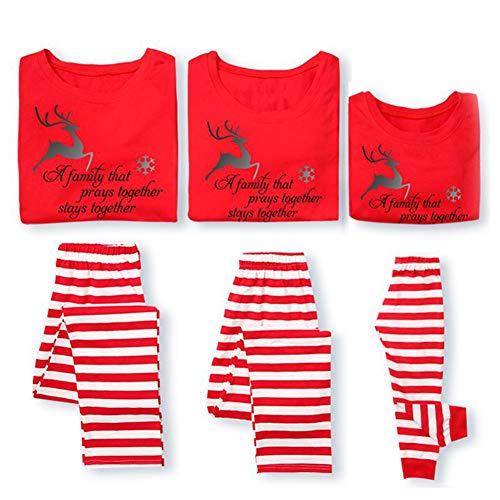Fushkong Familie Passende Weihnachtsbuchstaben Pyjama Sets Nachtwäsche Nachtwäsche Zuhause Verschleiß