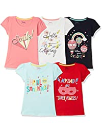 Max Girl's Regular fit T-Shirt (Pack of 5)