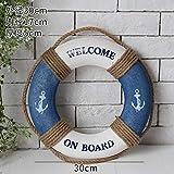 OYBB Ornamente Statuen mediterranen Stil Bar Restaurant Shop Hintergrund Wand Anhänger Marine Rettungsring Schwimmen Ring Wanddekoration
