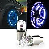Sedeta 2ST Multicolor-LED Reifen Reifen Ventilkappen Neon-Licht-Lampen-Lichter Kunststoff + Metall