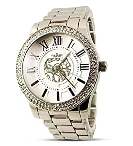 Branded Fashion Ladies Watch / Womens Watch at Discounted Sale Price - Luxury Silver Crystal Face Wrist Watch