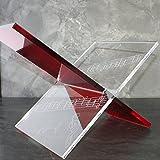 Porte Revues en Plexi, Modèle Musique2, Rouge et transparent (Plexiglas/Altuglas)