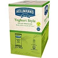 Hellmann's - Salsa Yogur en Monoporciones (sin gluten y vegetariana) 50 Sobres x 30 ml
