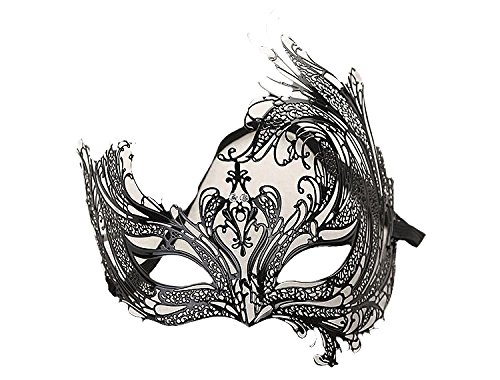 Venezianische Venetianische Maske #7 Metall metal sehr hochwertige Stabile Maske Maskerade Karneval Fasching Verkleidung Kostüm Halloween Party Maskenball Ball Shades of Grey Mr Grey Mitternacht