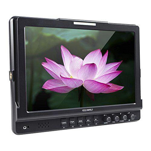 Andoer FEELWORLD FW1018S 10.1inch HD 1280 * 800 Video - Monitor IPS LCD - Display, HDMI - 3G-SDI YPbPr 178 ° Blick Winkel mit U Geformt, Halterung für DSLR - Kamera - -