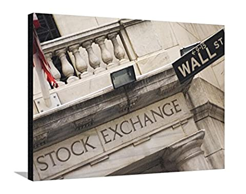 Reproduction sur toile tendue New York Stock Exchange, Wall Street, Manhattan, New York City, New York, USA par Amanda Hall - 76x102 cm