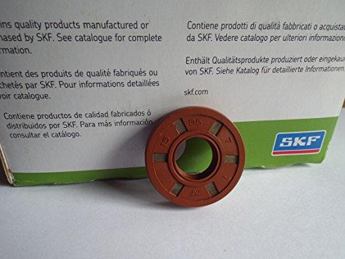 Viton Oil Seals (15x 35x 7mm Doppel Lip Oil Seal SKF Viton R23/TC Viton Gummi Edelstahl Strumpfband Spring)