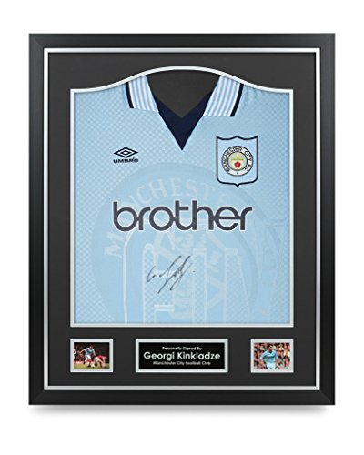 Georgi-Kinkladze-Signed-Shirt-Man-City-Framed-Autograph-Jersey-Memorabilia-COA