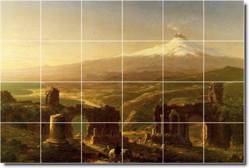 HISTORICOS DE THOMAS COLE AZULEJO MURAL 14  48 X 182 88 CM CON (24) 12 X 12 AZULEJOS DE CERAMICA