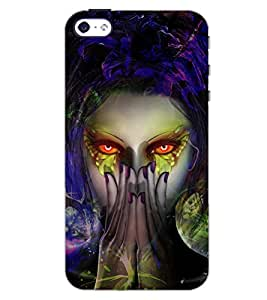 PrintDhaba EVIL D-6742 Back Case Cover for APPLE IPHONE 4 (Multi-Coloured)