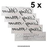 """5 x """"Dirty Whore"""" Tattoo Schriftzug in schwarz - Sexy Kinky Tattoo (5)"""