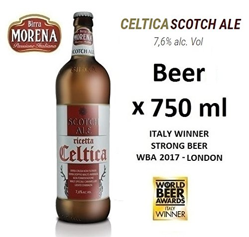 Birra Morena Scotch Ale 7,6 % alc vol - CL 75 - Strong - Yeast abbey -Artigianale - Craft Beer - Italian Beer - Award - Best Gift Events Christmas Easter.