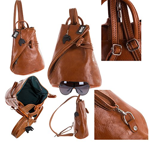 Big Handbag Shop, Borsa a spalla donna Black & Brown