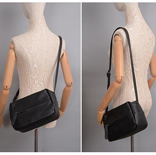 Donna PU nuovo Stile Moda Tempo Libero Colore Solido Alta Qualità Portatile Resistente Spalla Singola Grey