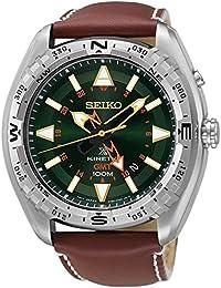 Seiko Herren-Armbanduhr Prospex Land Kinetic Analog Quarz Leder SUN051P1