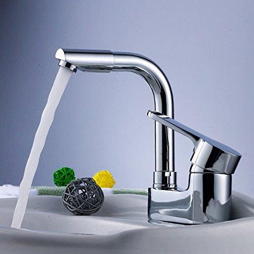 Tout Copper Basin Double eau du robinet peut être pivoté Hot Et Bassin de froid robinet lavabo pouvez faire pivoter le robinet