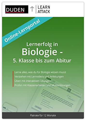 Duden Learnattack - Lernerfolg in Biologie - 5. Klasse bis zum Abitur (12 Monate Flatrate)