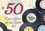 DeCoArt… Geburtstagskarte 50 Geburtstag Happy Birthday Das Leben ist zum Tanzen da!