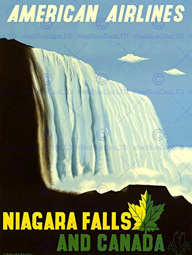 travel-american-airline-niagara-falls-canada-usa-vintage-advert-poster-affiche-2288py