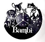 Wanduhr aus Vinyl-Platte, Vintage-Geschenk, Handgefertigt, sofortiges Karma – Film – Bambi