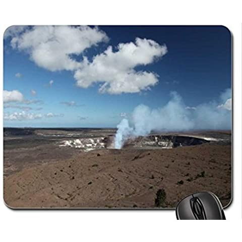 Steam and Gas are coming out of Halemaumau Volcano Vent, Hawaii Mouse Pad, Mousepad (Forces of Nature Mouse Pad)
