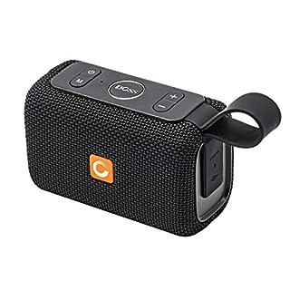 Bluetooth Lautsprecher, DOSS E-Go Bluetooth Lautsprecher Boxen Soundbox mit besserem Bass Drahtloser Tragbarer IPX6 Wasserdichter Lautsprecherbox für iPad, Tablet und Andere Android Geräte 【Schwarz】