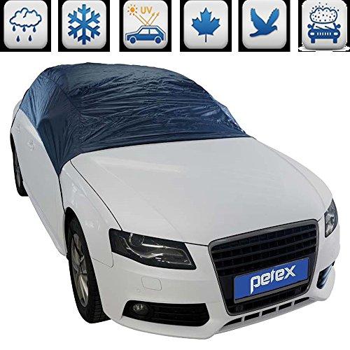 TEILE-24.EU Malinowski PKW Halbgarage Nylon - Auto Winter Abdeckung Schnee Sonnenschutz (L - 287 x 145 x 61 cm)