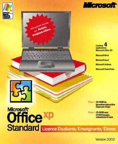 Office XP Standard, licence Etudiants - Enseignants - Elèves