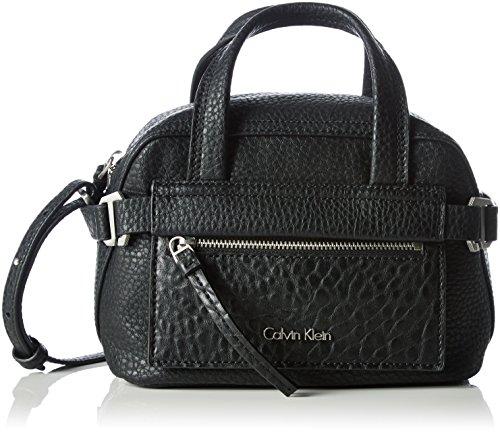 Calvin Klein Jeans CECILE MINI Damen Schultertasche 12x14x24 cm (B x H x T), Schwarz (Black 001)