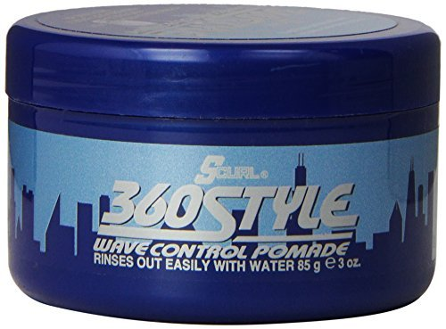 Luster's 360 Style Wave Control Pomade 3 oz. by Lusters S curl 360 Style Wave Control Pomade 85 g (Pomade S-curl Style 360)