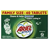 Ariel Biological Laundry Detergent 40 Tablets, 20 Washes (Pack of 4, Total 80 Washes)