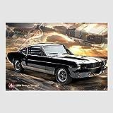 Kunstdruck Poster - Ford Mustang Shelby GT 350 66 V8 Muscle Car USA 61 x 91,50 cm, viele Rahmenfarben zur Auswahl, hier ohne Rahmen