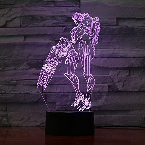 3D Lampe Kinderzimmer OW Held Gorilla WINSTON Figur Nachtlicht Geschenk Kind Arbeitszimmer Dekoration Led Nachtlicht Overwatch