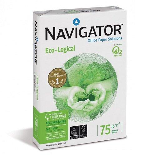 Caja 2500 Folios Navigator Eco-Logical 5x Paquete 500 hojas 75 g/m² A4 Ecológico