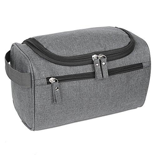 EGOGO Toiletry Bag Travel Overnight Wash Gym Shaving Bag For Men and Women Ladies E528-3 (Grey)