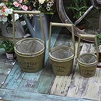 New day®-giardinaggio di legno tre fiore manufatti per l