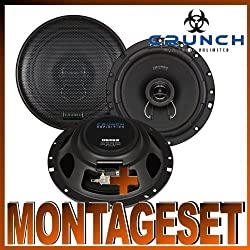 Crunch DSX 62Speaker for VW Polo 56R ab Bj. 2009Rear Side Doors at Front and Back