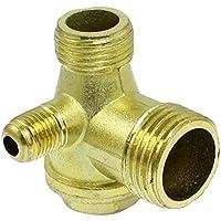 Compresor de valvula de retencion - TOOGOO(R) Rosca macho de laton compresor de aire valvula de retencion de piezas de repuesto dorado