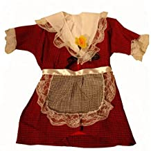 Welsh Lady Traditional Costume Set St Davids Day [4-5years] other sizes available in our store (disfraz)